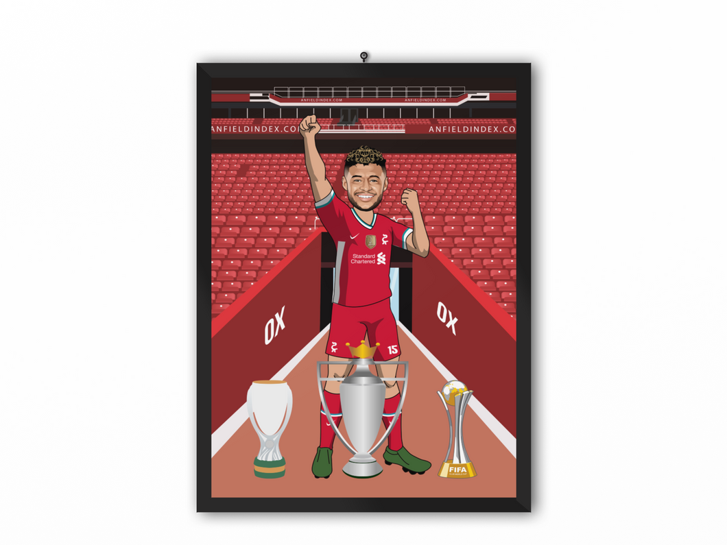 Alex Oxlade-Chamberlain - Liverpool 20/21 Caricature Illustration Print - A3, A4 or A5