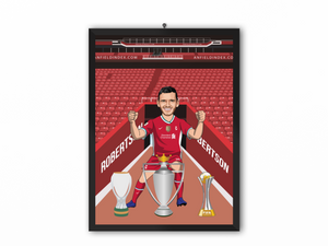 Andrew Robertson - Liverpool 20/21 Caricature Illustration Print - A3, A4 or A5