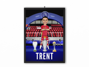 Trent Alexander-Arnold - Champions 19/20 Caricature Illustration Print - A3, A4 or A5