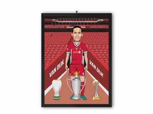 Virgil van Dijk - Liverpool 20/21 Caricature Illustration Print - A3, A4 or A5