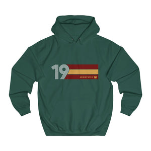 Undisputed 19 (On Red) - Unisex College Hoodie