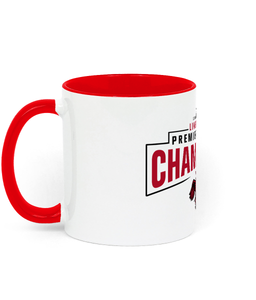 Champions 19/20 - Two Toned Ceramic Mug (Red Text)