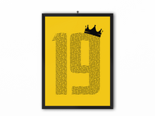 Load image into Gallery viewer, 19 Crown - Champions 19/20 Print (Black Text) - A3, A4 or A5
