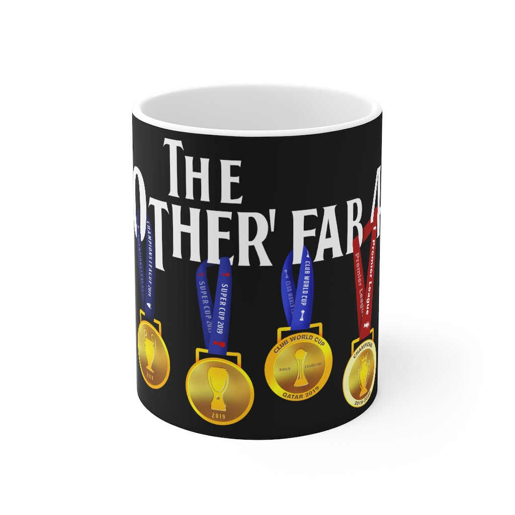 The Other Fab 4 - Champions 19/20 Mug (White Text on Black)