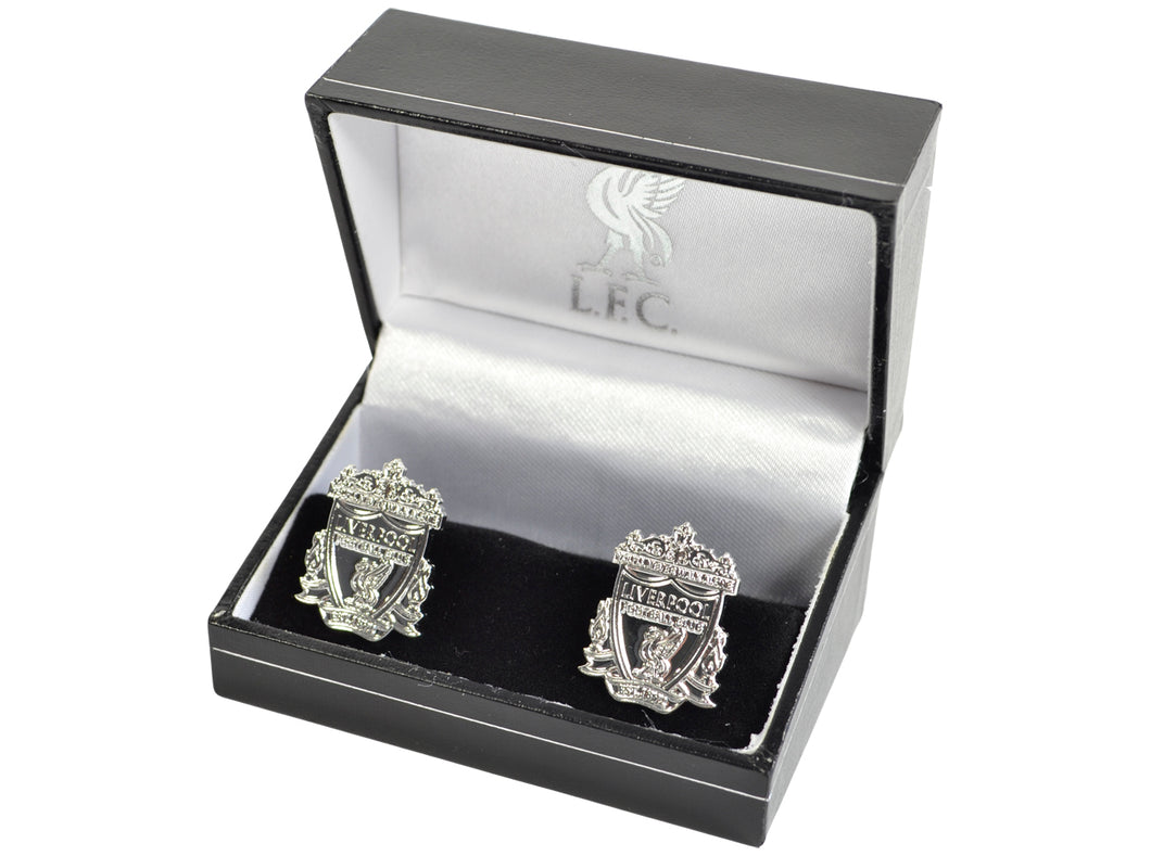 Liverpool Silver Plated Crest Boxed Cufflinks