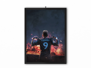 Firmino Fire Portrait - A3, A4 or A5