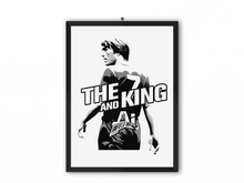Load image into Gallery viewer, The King & AI Print (White Text) - A3, A4 or A5
