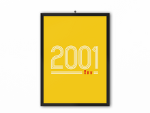 Load image into Gallery viewer, 2001 Retro Print (White Text) - A3, A4 or A5