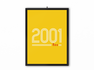 2001 Retro Print (White Text) - A3, A4 or A5