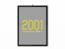 Load image into Gallery viewer, 2001 Retro Print (Yellow Text) - A3, A4 or A5