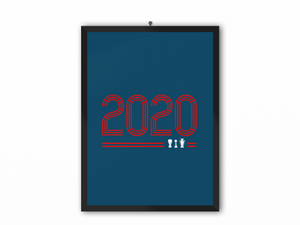 2020 Retro Print (Red Text) - A3, A4 or A5