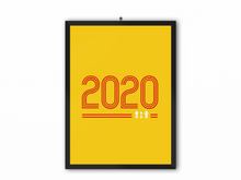 Load image into Gallery viewer, 2020 Retro Print (Red Text) - A3, A4 or A5
