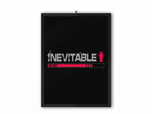 Inevitable 19/20 Print (Grey Text & Red Trophy) - A3, A4 or A5
