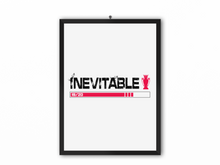 Load image into Gallery viewer, Inevitable 19/20 Print (Black Text & Red Trophy) - A3, A4 or A5