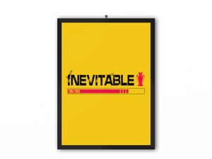 Inevitable 19/20 Print (Black Text & Red Trophy) - A3, A4 or A5
