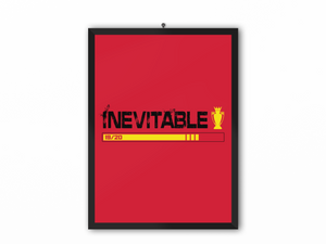 Inevitable 19/20 Print (Black Text & Yellow Trophy) - A3, A4 or A5