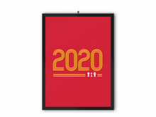 Load image into Gallery viewer, 2020 Retro Print (Yellow Text) - A3, A4 or A5