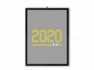 2020 Retro Print (Yellow Text) - A3, A4 or A5