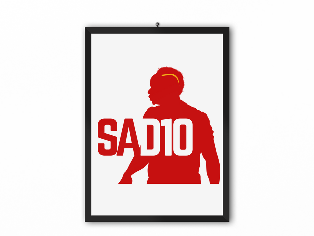 SAD10 Print (Red/Yellow) - A3, A4 or A5