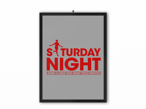 Saturday Night Print (Red Text) - A3, A4 or A5