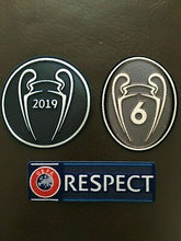 Load image into Gallery viewer, UEFA UCL Adult Winners Badge 2019 6 Respect triple pack