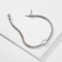 OVAL SETTING TENNIS BRACELET