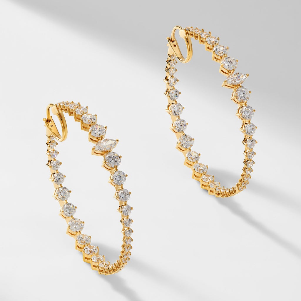 LEAH STATEMENT HOOP EARRINGS
