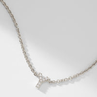 14KT WHITE GOLD DIAMOND INITIAL PENDANT