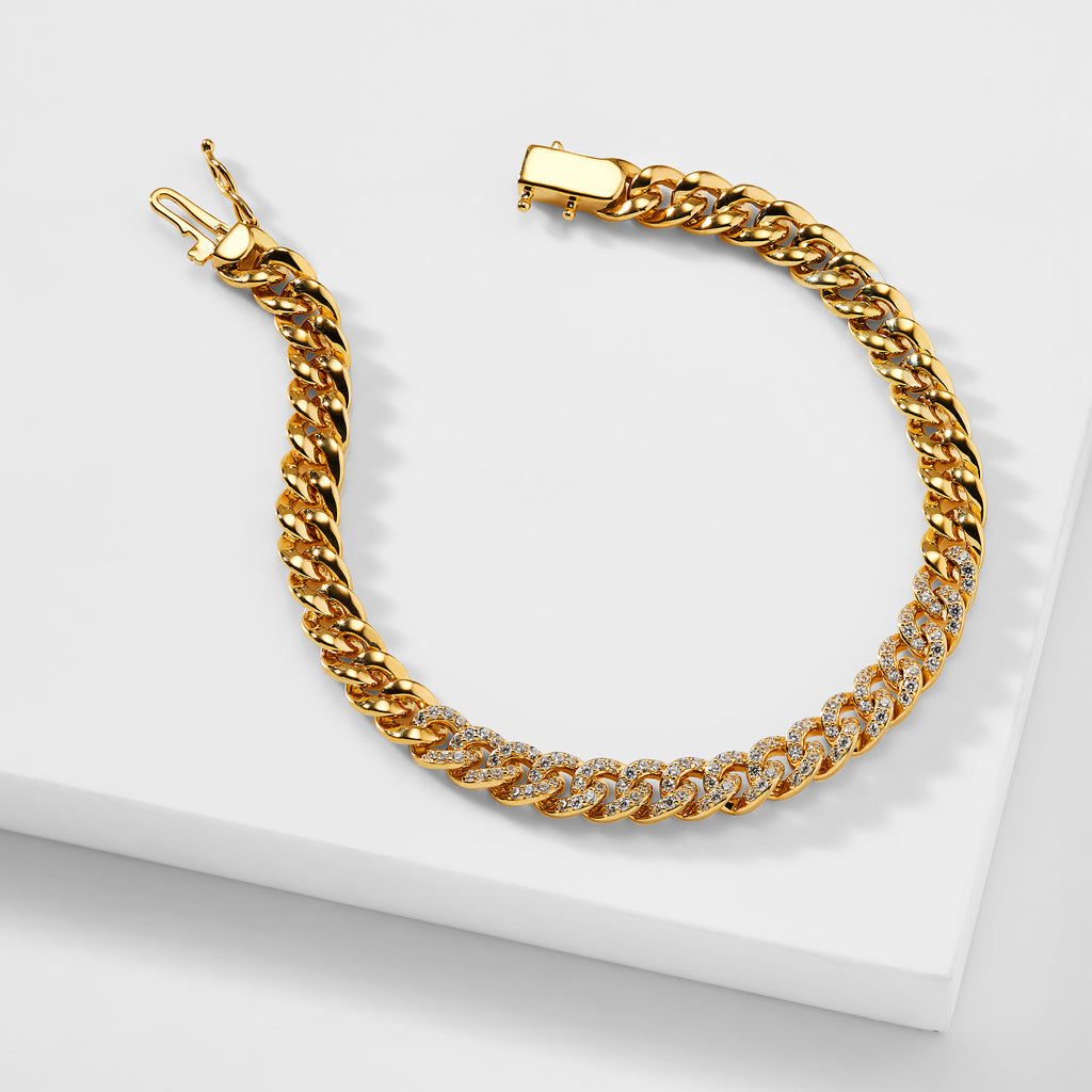 BILLIE CURB CHAIN LINE BRACELET