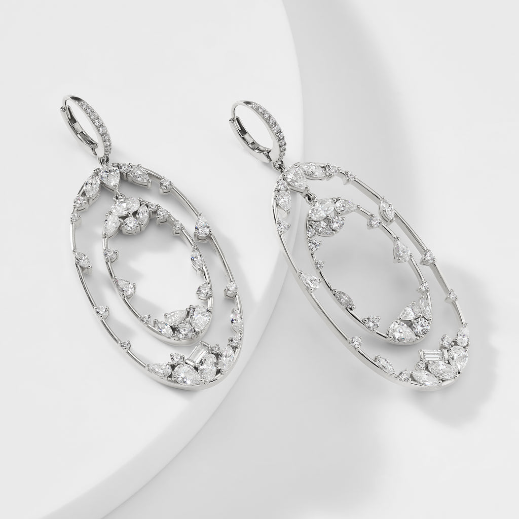 BILLIE OVAL ORBIT DROP EARRINGS