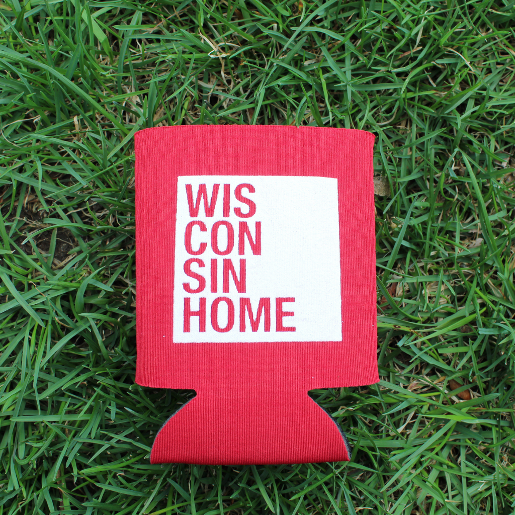 WIS Home Koozie - Red/White Logo