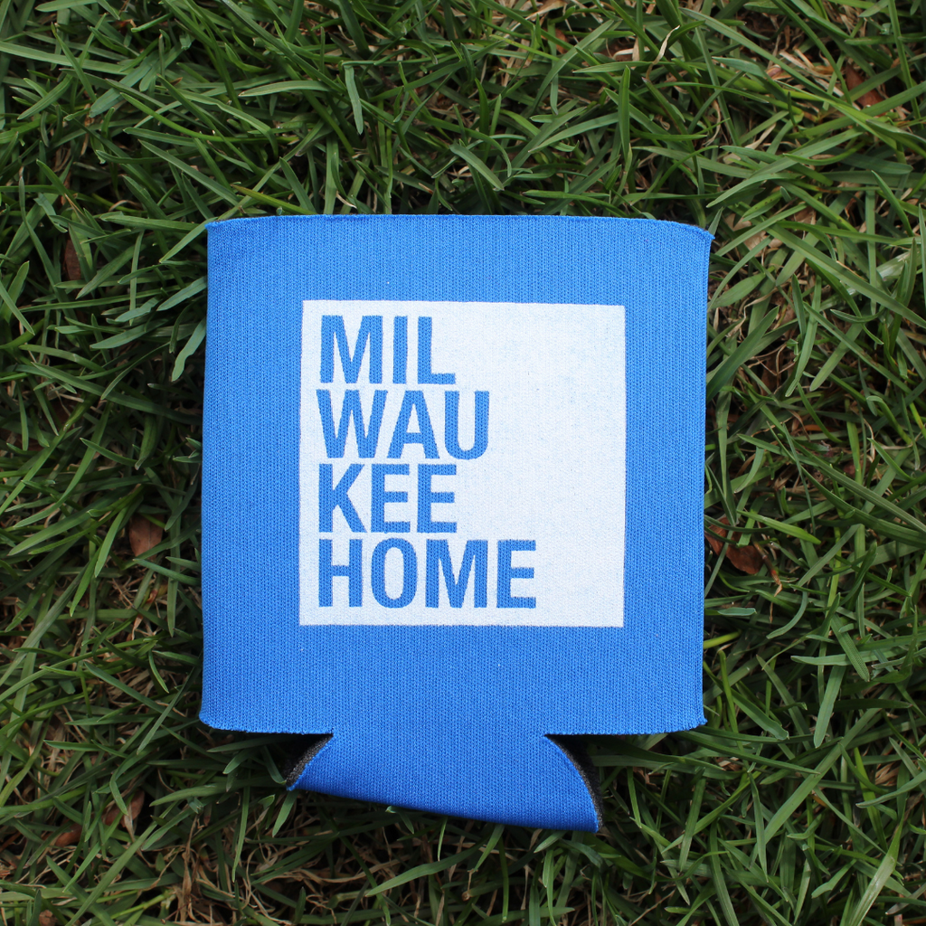 MKE Home Koozie - Royal Blue/White Logo