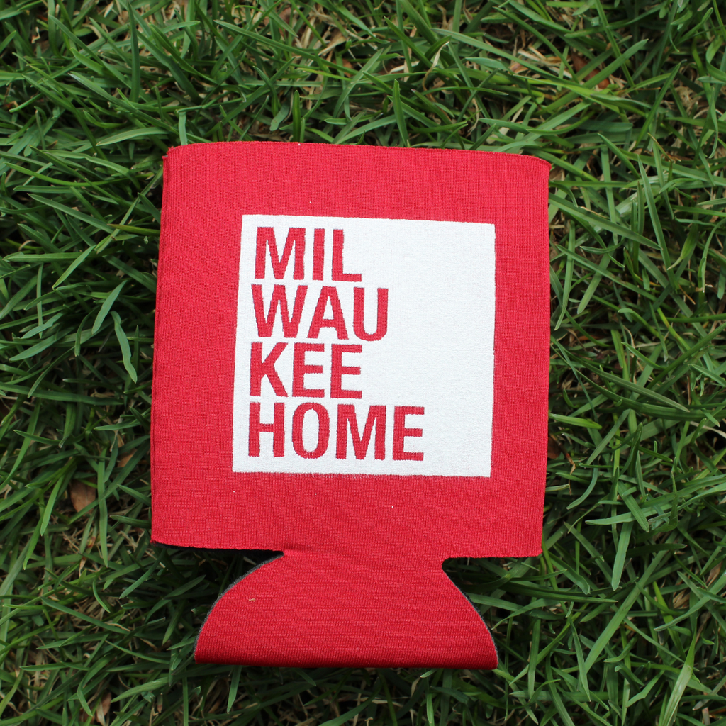 MKE Home Koozie - Red/White Logo