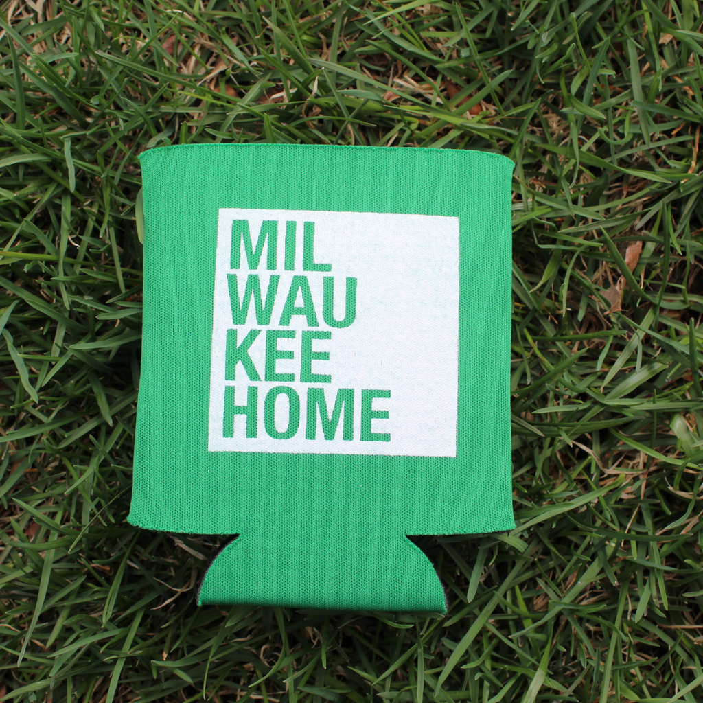 MKE Home Koozie - Green/White Logo