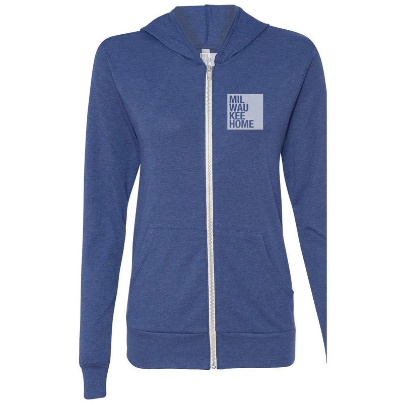 Unisex Triblend Lightweight Full-Zip Hoody