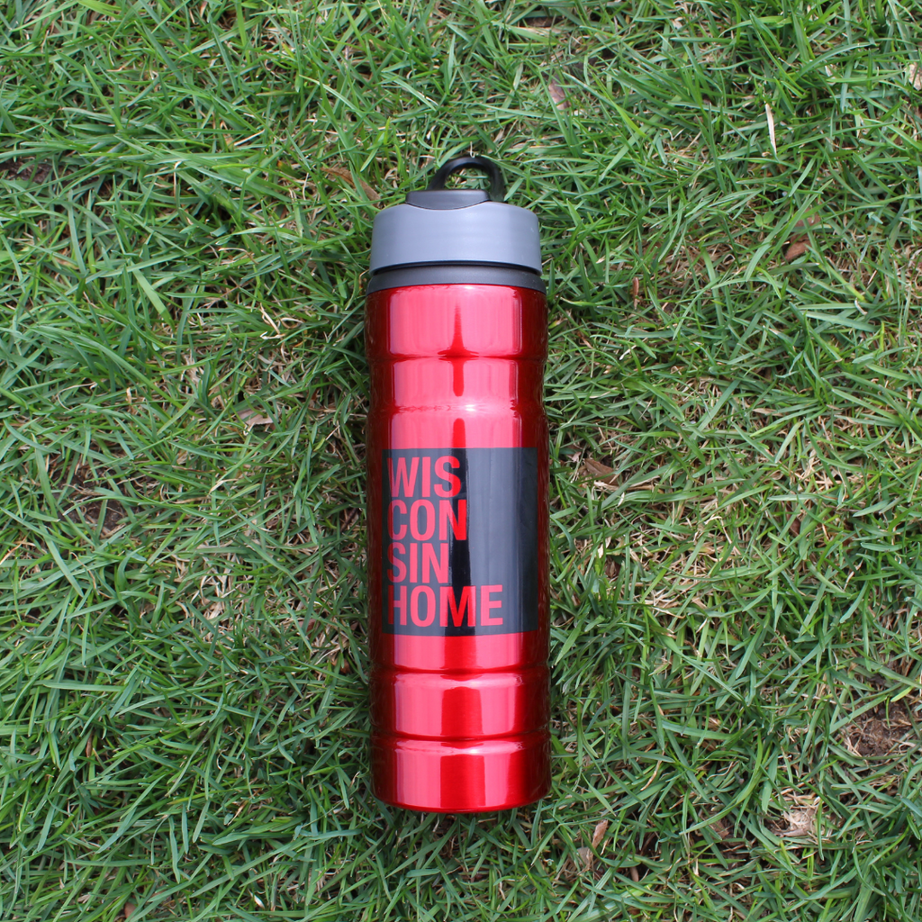 WIS Home Water Bottle - Red/Black Logo