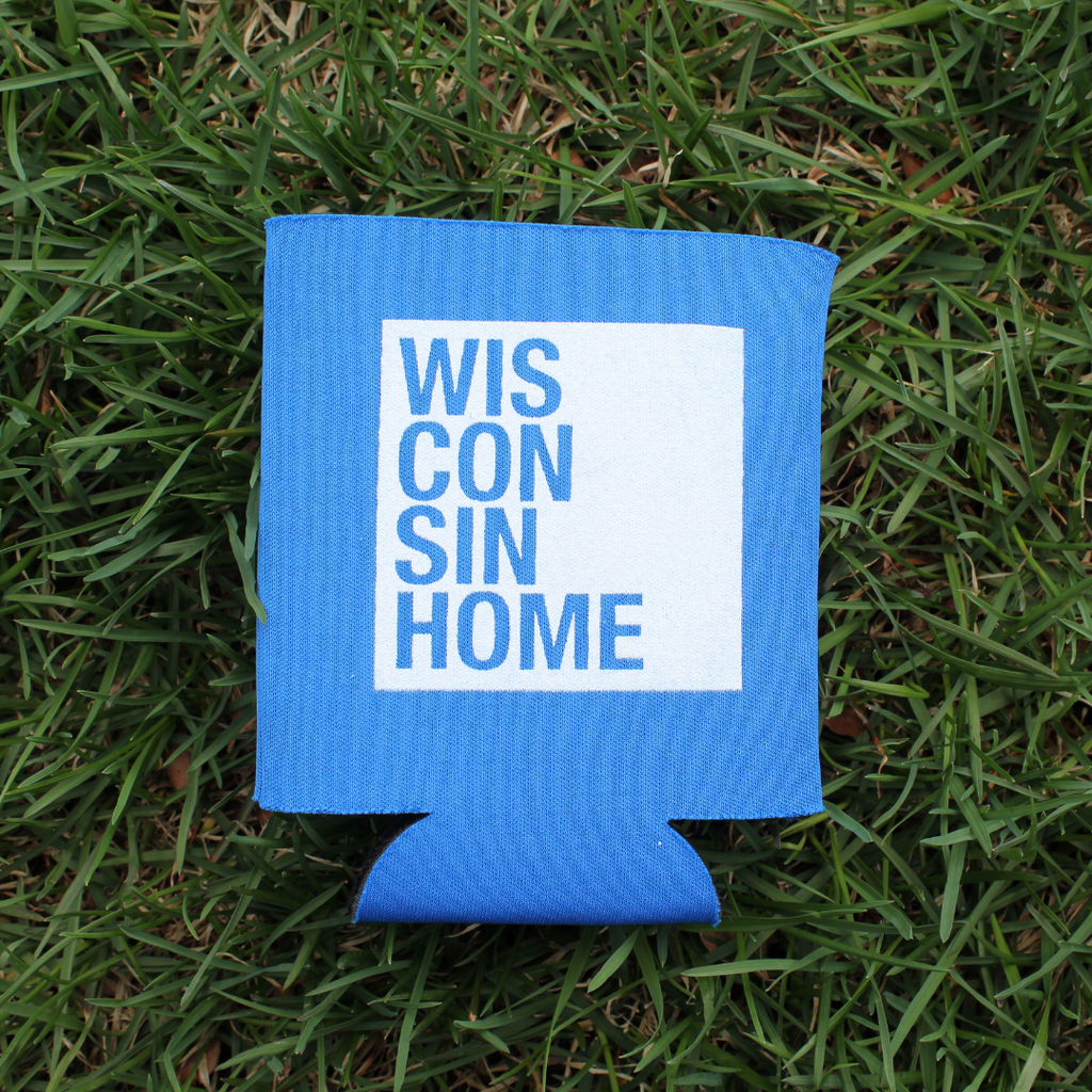 WIS Home Koozie - Royal Blue/White Logo