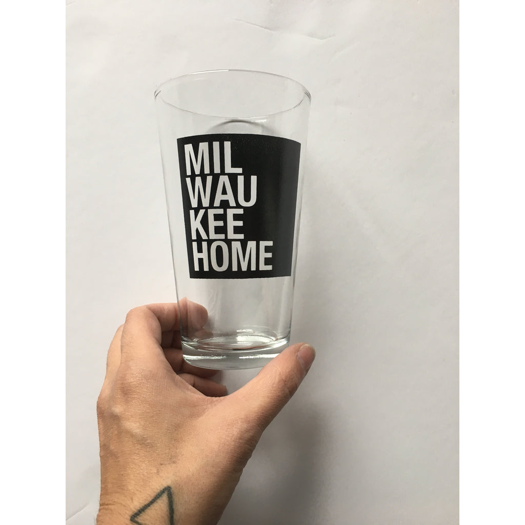 Milwaukee Home Pint Glass