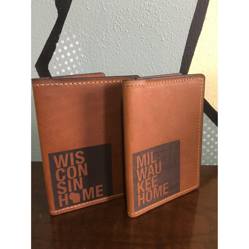 Milwaukee Home Leather Passport Wallet