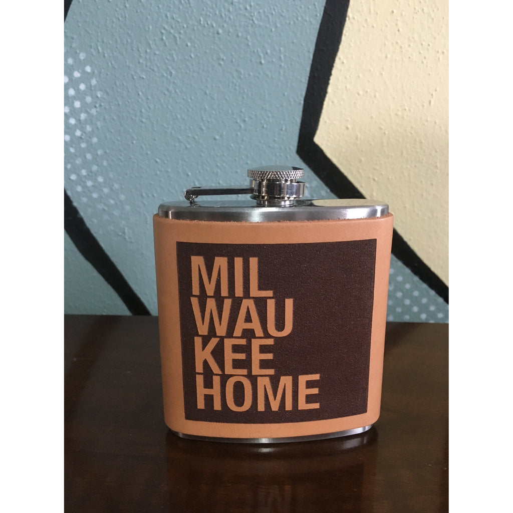 MKE Home Leather Flask