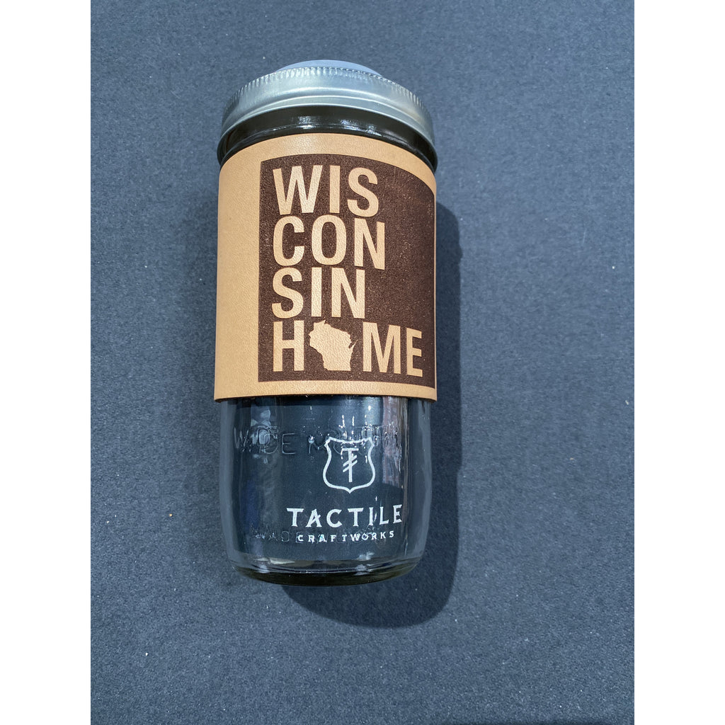 WIS Home Leather Travel Mug
