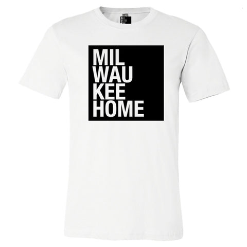 MKE Home PRIDE Heart (Courage MKE) Traditional Front - Heather Aqua/Black Logo