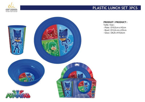 3-delige ontbijt/lunch set PJ Masks