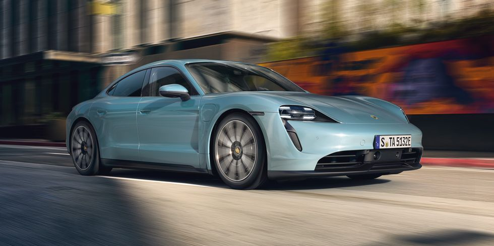 Porsche Taycan 4S Is a 563-HP Entry-Level Four-Door Rocket Ship