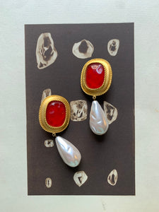 Vintage Ann Taylor clip-on statement earrings