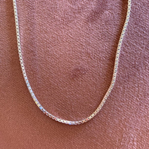 Box Chain (Sterling Silver)
