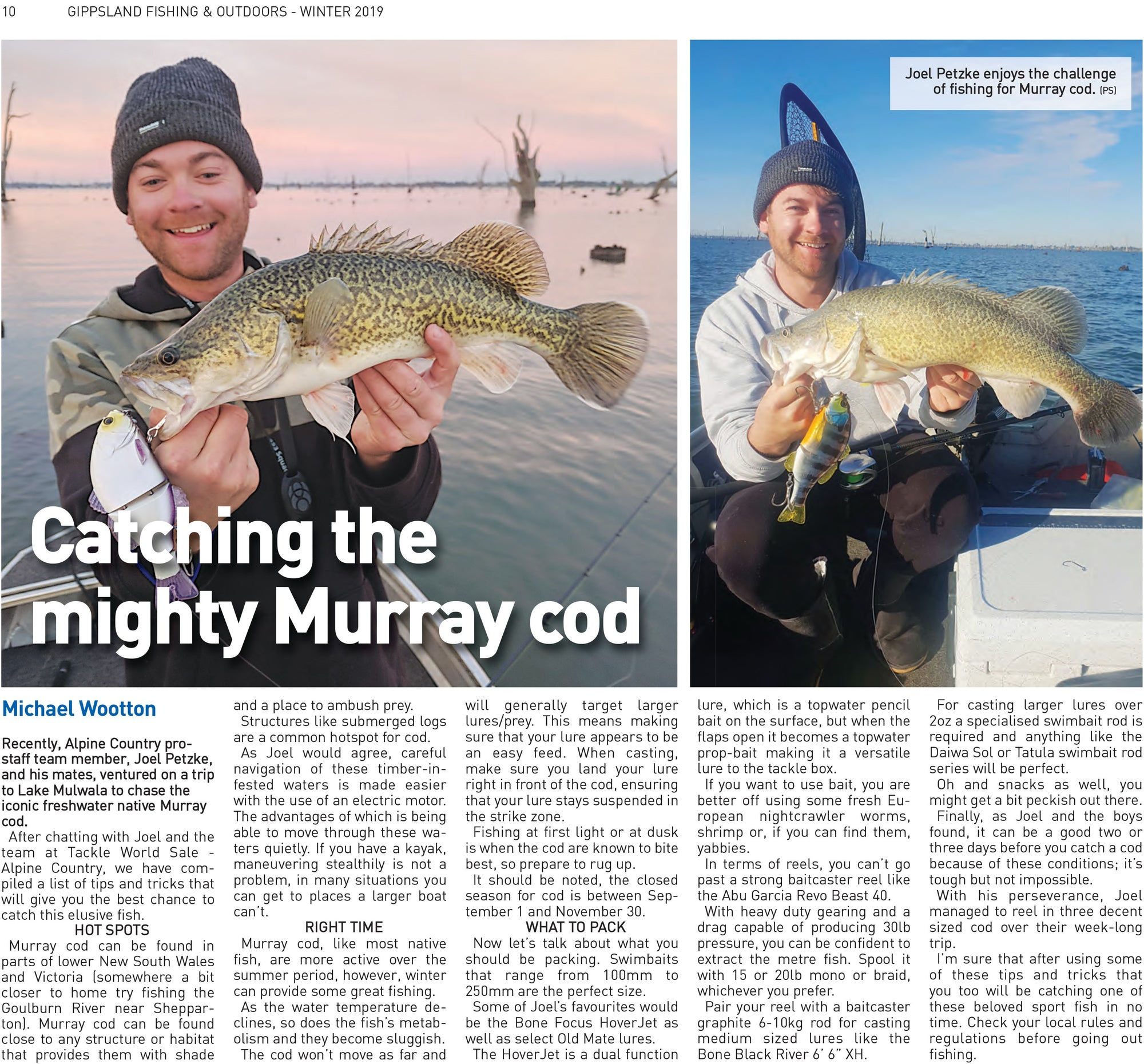 Catching the mighty Murray cod
