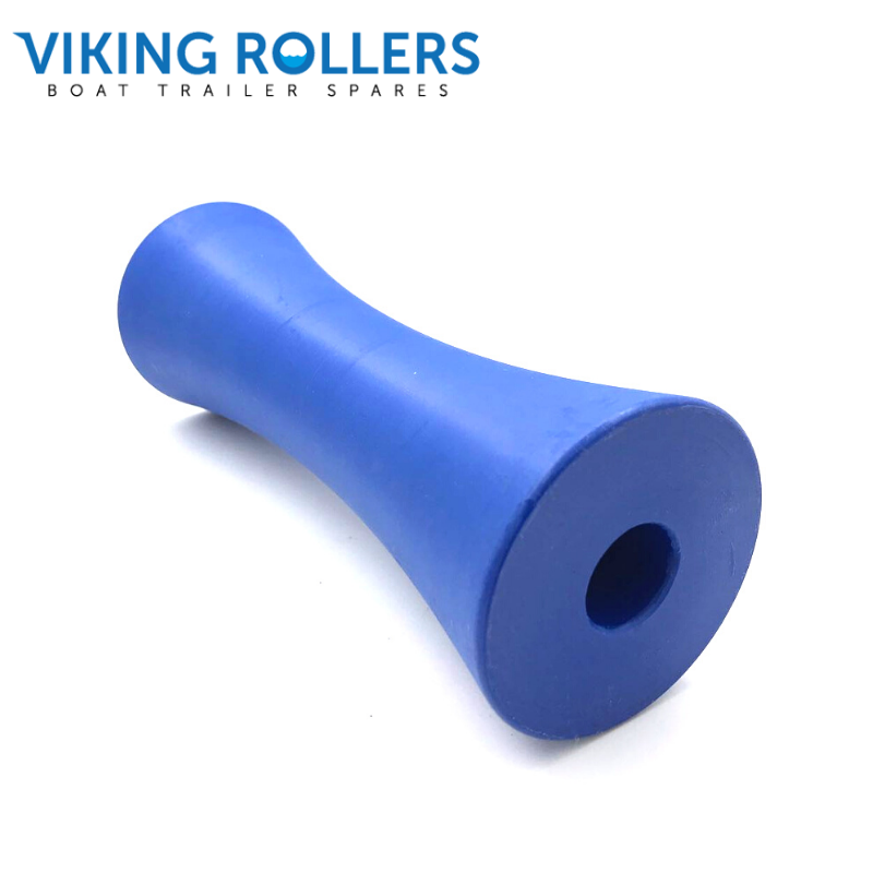 CONCAVE ROLLER 8 INCH WIDE BLUE NYLON 21MM HOLE