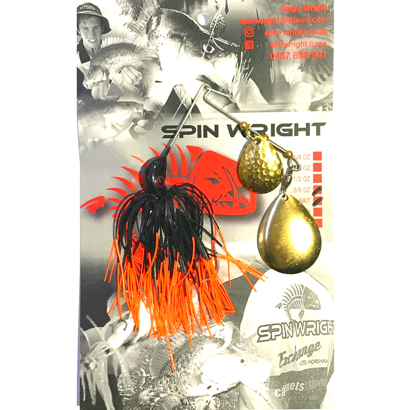 SPIN WRIGHT DOUBLE BLADE SPINNERBAIT 5/8OZ