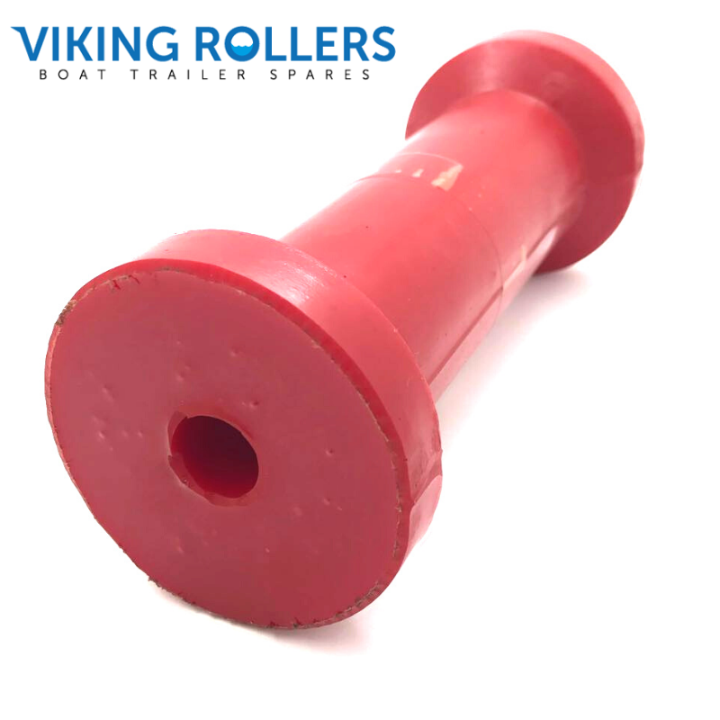 POLY COTTON REEL 8 INCH ROLLER 17MM BORE RED